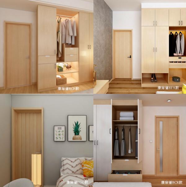 家装治愈色系 带着柔和之感的麦芽黄色木门